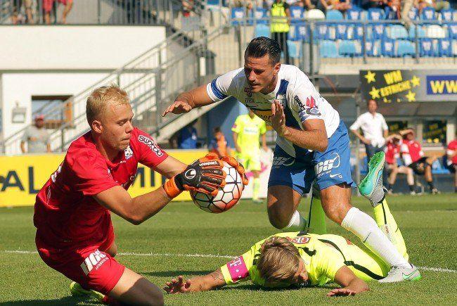 Unentschieden ging das Match zwischen Austria Wien und Grödig aus.