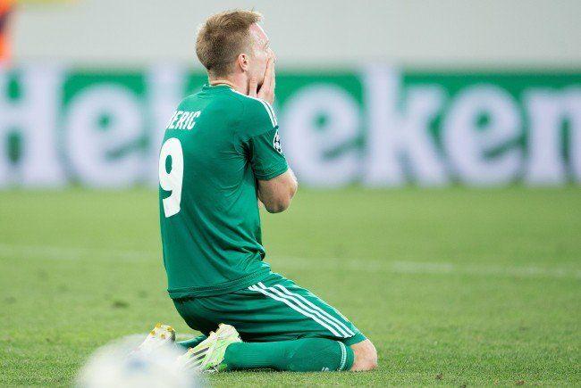 Bittere Enttäuschung für Rapid Wien nach dem Ausscheiden aus der Champions League.
