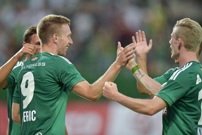 Robert Berič und Florian Kainz wollen auch in Graz über Rapid-Tore jubeln.