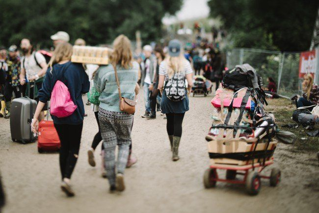 Festivalbesucher am Frequency - Die Sanitäter stehen bereit