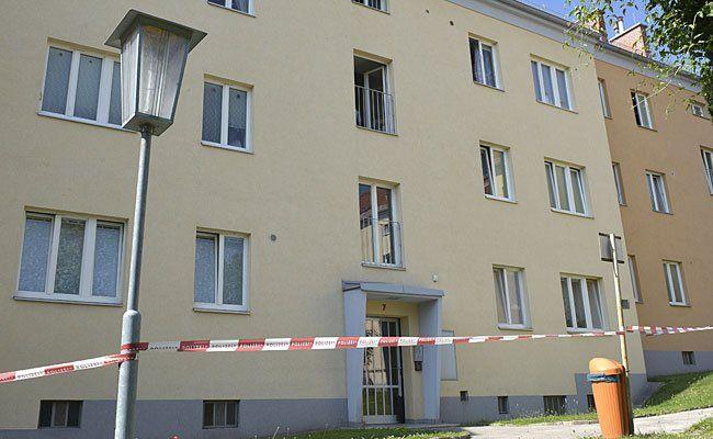 Das Haus, in dem das erstochene Kind gefunden wurde