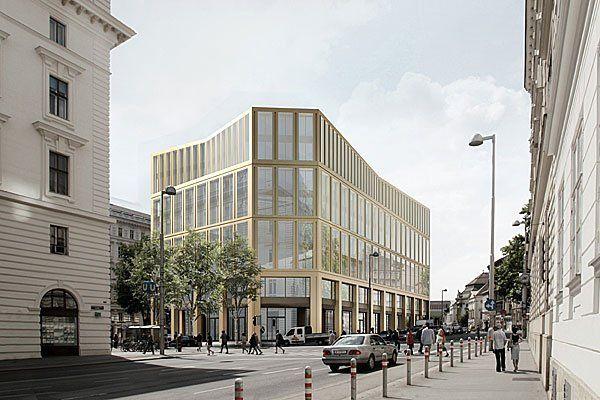 Der von Harry Glück als Glaswürfel konzipierte Bürozweckbau hätte bereits abgerissen werden sollen.