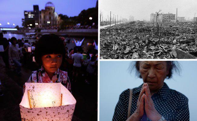 Japaner gedachten der Opfer des Atombombenabwurfs auf Hiroshima