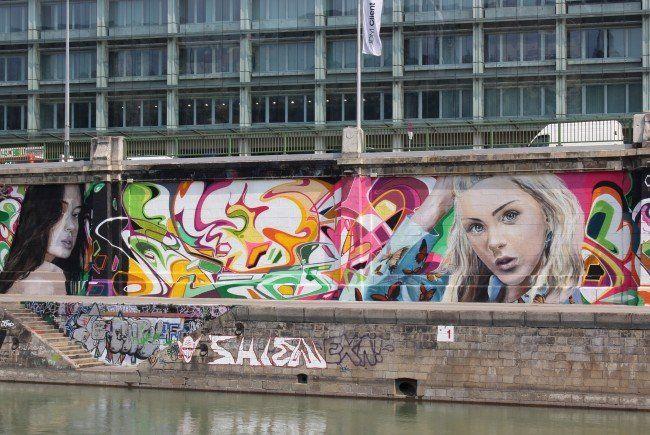 Was sagen Sie zu den Graffitis entlang des Donaukanals?