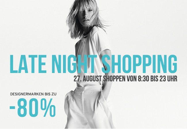 Late Night Shopping am 27. August