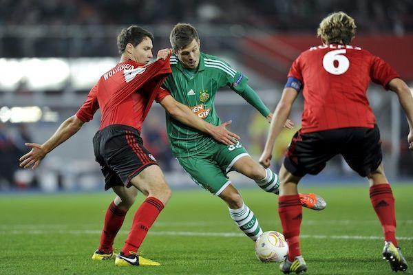 Bei der letzten Begegnung von Rapid mit Leverkusen im Jahr 2012