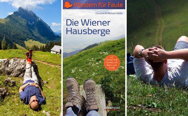 """Ganz nach dem Motto """"Wandern für Faule"""" findet man in dem Buch gemütliche Touren rund um Wien."""