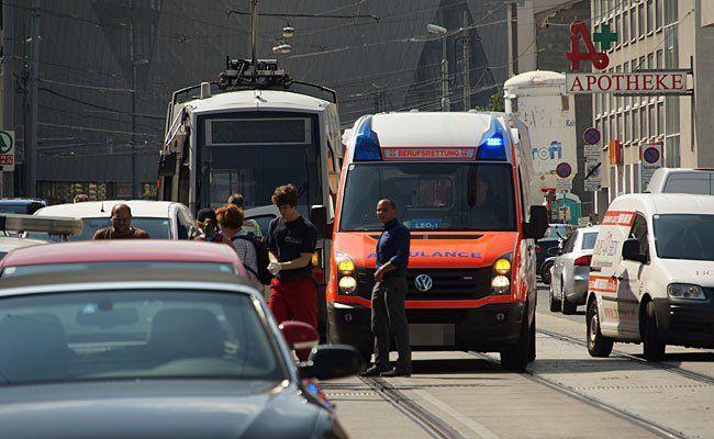 An der Unfallstelle in Donaustadt