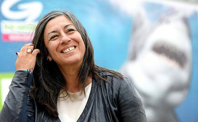 Grüne-Spitzenkandidatin Maria Vassilakou bei der Präsentation der neuen Plakate