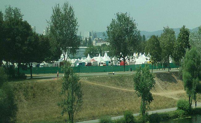 Was Sie hier sehen, ist definitiv kein Flüchtlingscamp auf der Donauinsel