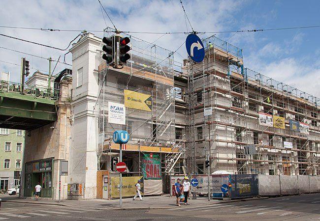 Seit Monaten gibt es Arbeiten an der U6-Station Alser Straße