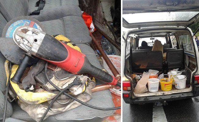 Bei einer Fahrzeugkontrolle erwischten Polizisten die Einbrecher.