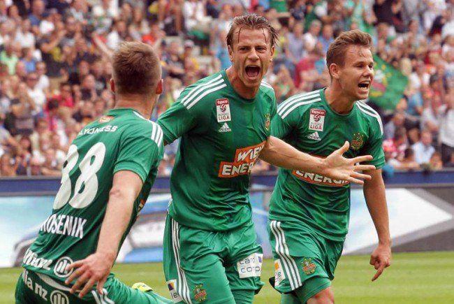 Verdienter Jubel beim SK Rapid Wien.