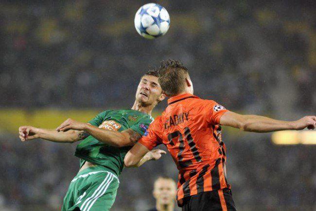 Rapid verlor knapp gegen Schachtar Donezk.