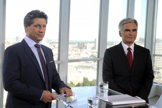 Bundeskanzler Faymann im Sommergespräch.