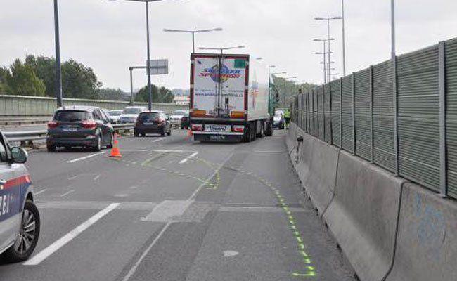 Unfall auf der A23 am Sonntag.