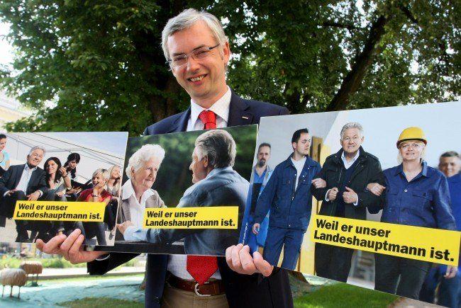Die neuesten Wahlkampf-Plakate der ÖVP in Oberösterreich.