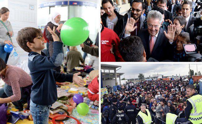 Viele Österreicher helfen den Flüchtlingen