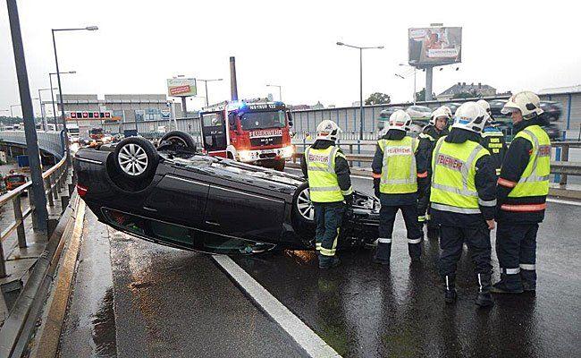 Der Unfallwagen auf der A23