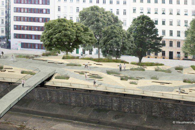 Die Wiental-Terrassen sind fertig und für die Bevölkerung zugänglich.