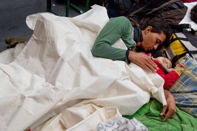 In Österreich wird es eng: Zu wenig Plätze füßr FLüchtlinge