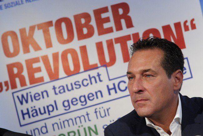 HC Strache will bei der Wien-Wahl mit der FPÖ die meisten Stimmen erzielen