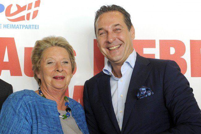 Stenzel und Strache treten gemeinsam zur Wien-Wahl an.
