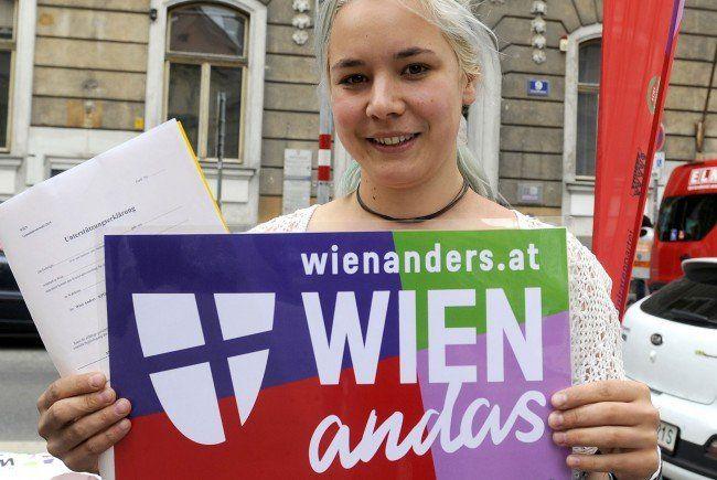 Wien Anders durfte seine Dreiecksständer nicht aufstellen.