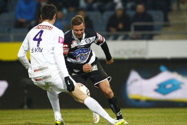 Roman Kienast (r.) trifft mit Sturm Graz auf seinen Ex-Verein.