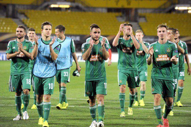 Rapid hofft auch gegen Pilsen und Minsk auf die Unterstützung zahlreicher Fans.