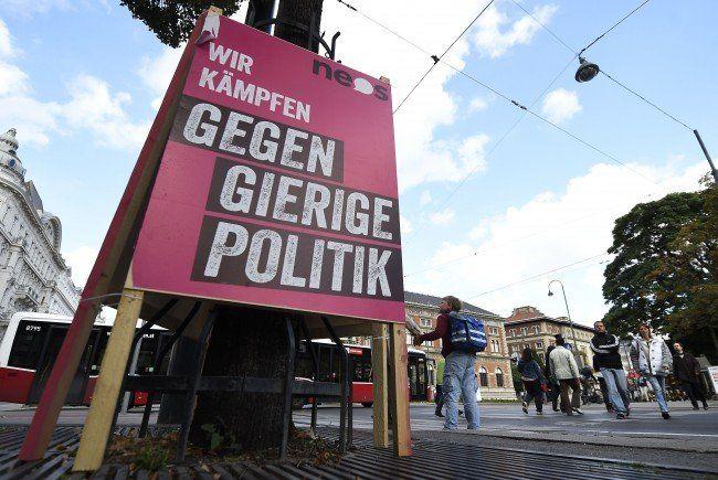 Für ÖVP, Grüne und NEOS wird die Luft dünn