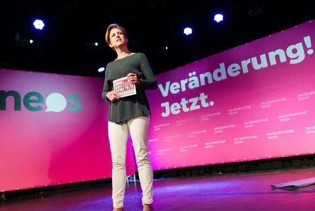 NEOS-Spitzenkandidatin Beate Meinl-Reisinger stellt sich der Wien-Wahl