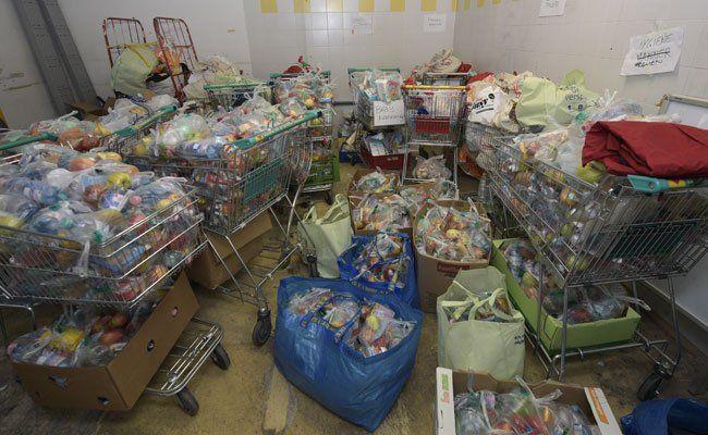 Die Caritas bittet wieder um Lebensmittelspenden.