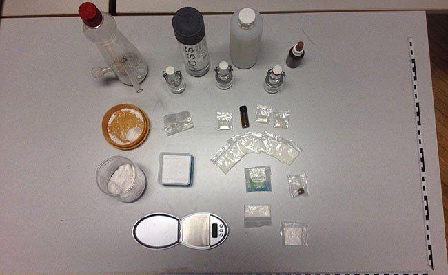 Bei der Drogenparty wurden diese Substanzen sichergestellt