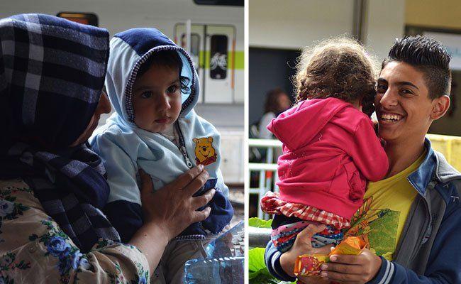 Die Dankbarkeit ist vielen der Flüchtlinge am Wiener Westbahnhof ins Gesicht geschrieben