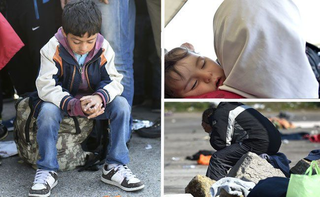 Die tausenden Flüchtlinge in Nickelsdorf müssen versorgt werden.