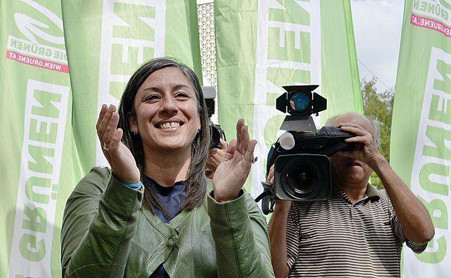 Erneut im Zentrum der Grünen-Sujets: Spitzenkandidatin Maria Vassilakou