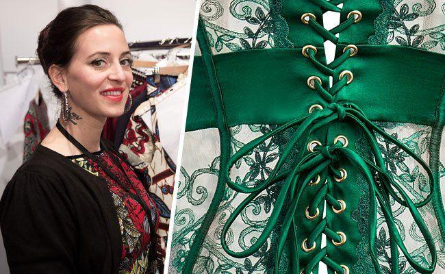 Lena Hoschek designt für Palmers - hier das erste Teaser-Sujet