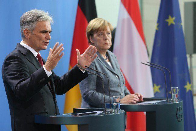 Werner Faymann beim Dialog in Berlin.
