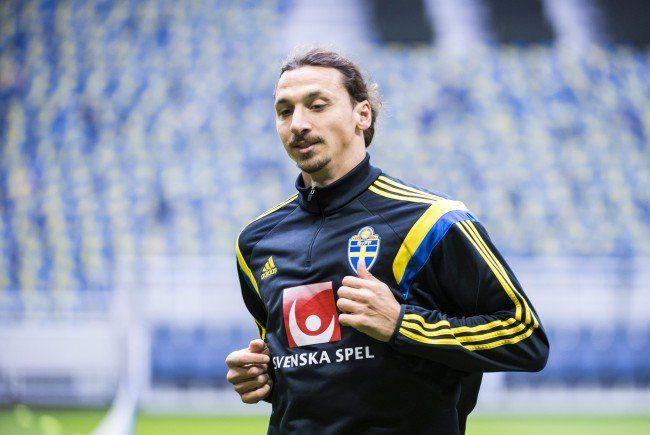 Zlatan Ibrahimović wird gegen Österreich stürmen.