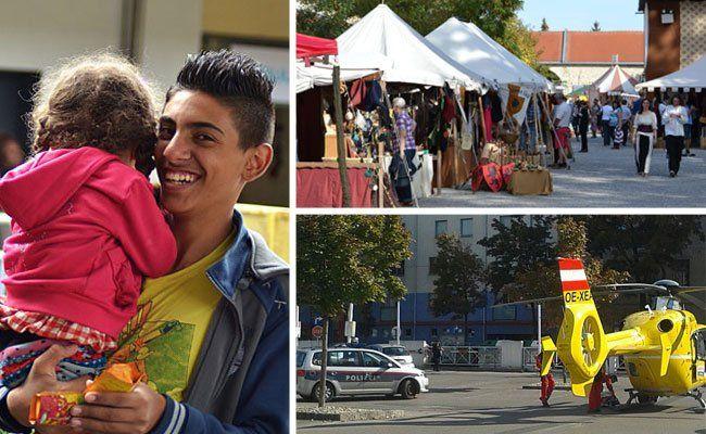 Dankbare Flüchtlinge am Westbahnhof, ein Mittelalterfest im Schloss und ein Einsatz nach Schüssen in Favoriten