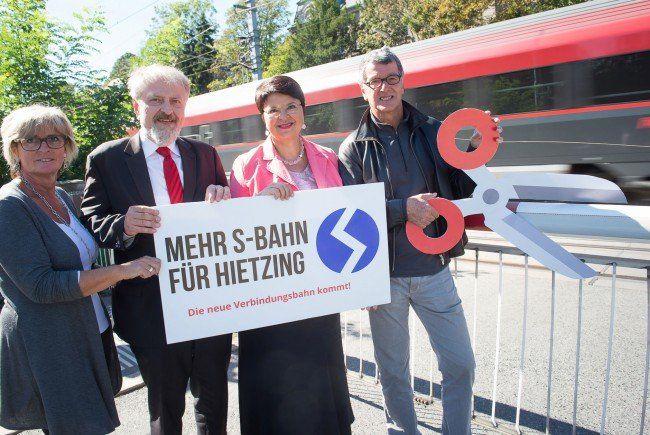 Bei der Vorstellung der neuen Verbindungsbahn.