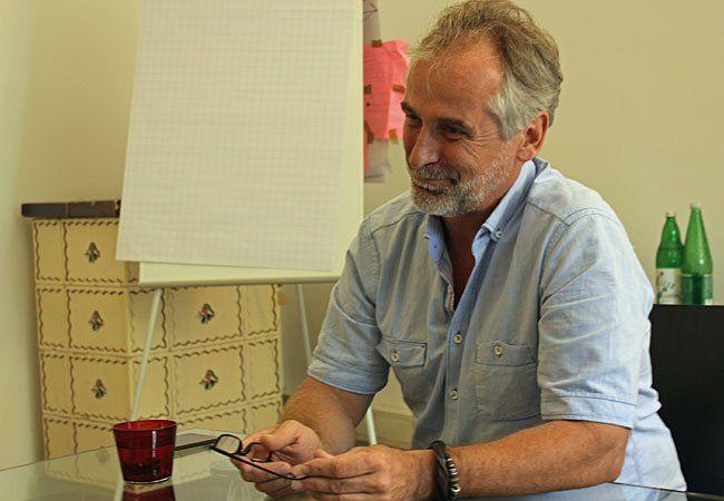 WWW-Spitzenkandidat Heinz Pollischansky beim Gespräch mit VIENNA.at
