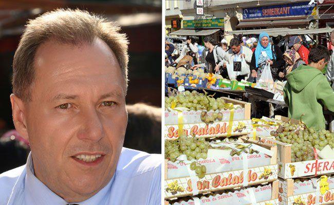 Ottakrings Bezirksvorsteher Franz Prokop ist ein Fan des Brunnenmarkts