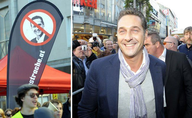 Als Strache 2010 am Viktor-Adler-Markt zum Wien-Wahlkampf rief, gab es ebenfalls eine Gegendemo