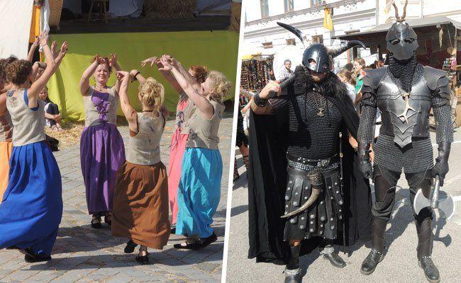 Beim Mittelalterfest in Eggeburg herrschte buntes Treiben.