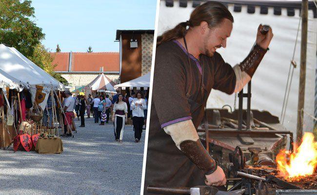 Am Wochenende fand im Schloss Neugebäude das Historische Fest statt.
