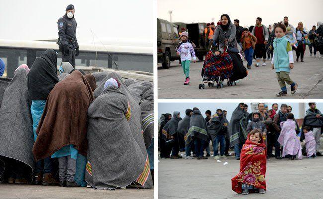 Zu Herbstbeginn brauchen die Flüchtlinge dickere Kleidung.