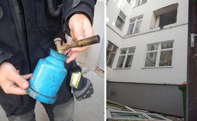 Eine Verpuffung riss in Brigittenau ein Fenster aus der Fassade