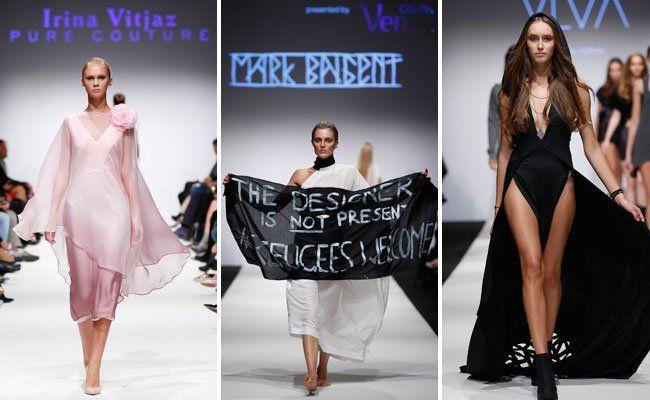 Rosen und Botschaften auf der Fashion Week am Mittwoch.